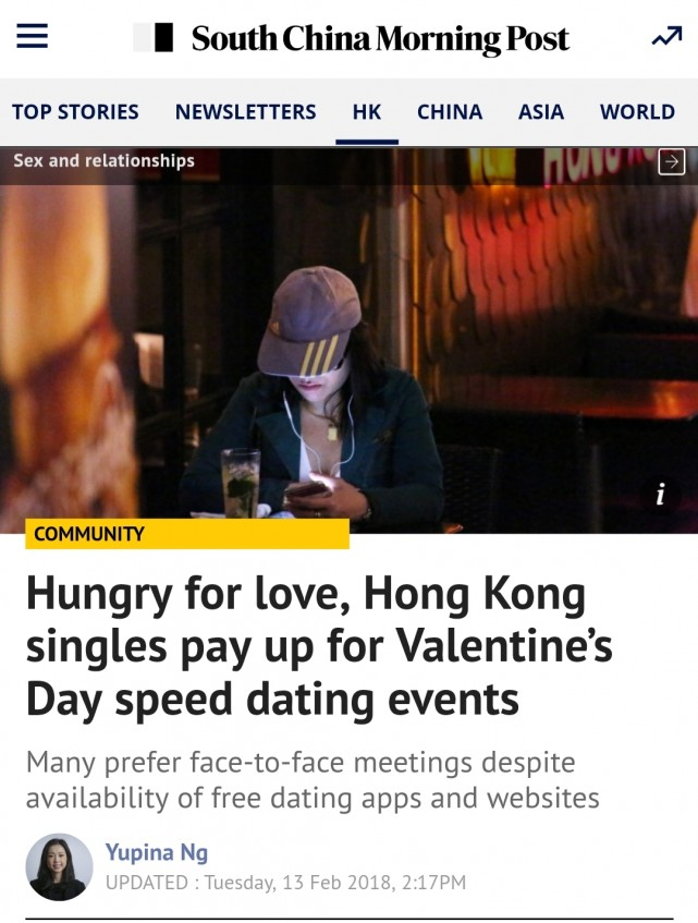 Speed dating hong kong